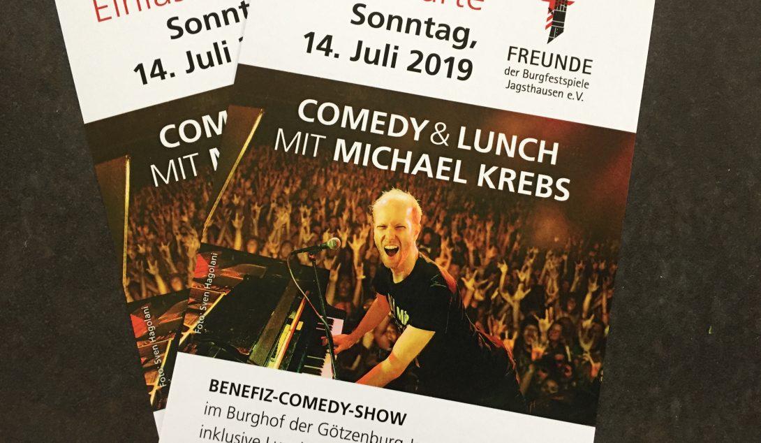 Kartenbestellung für Comedy und Lunch